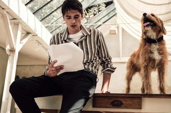 ALAIN FABIEN DELON, THE SON OF THE MOST FAMOUS LOOK IN FRENCH CINEMA, STARS IN THE NEW MANGO MAN EDITORIAL - 07