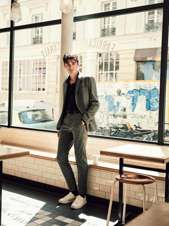 ALAIN FABIEN DELON, THE SON OF THE MOST FAMOUS LOOK IN FRENCH CINEMA, STARS IN THE NEW MANGO MAN EDITORIAL - 08