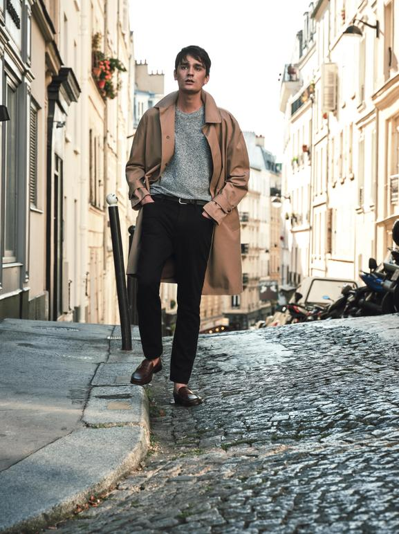 ALAIN FABIEN DELON, THE SON OF THE MOST FAMOUS LOOK IN FRENCH CINEMA, STARS IN THE NEW MANGO MAN EDITORIAL - 11