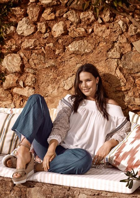 Candice Huffine for Violeta by MANGO